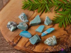 Turquoise Raw Crystals - Raw Turquoise Stone Birthstones Jewelry Making E0053