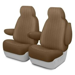 For Cadillac Srx 10-16 Dash Designs Plush Regal 1st Row Tan Custom Seat Covers
