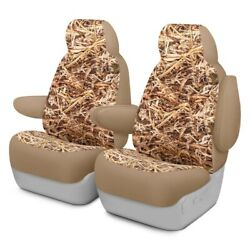 For Jeep Compass 17 Dash Designs Cowboy Camo 1st Row Straw Custom Seat Covers