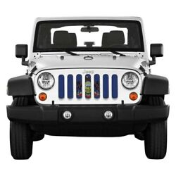 For Jeep Gladiator 20 Main Grille 1-pc State And City Flags Series Pennsylvania