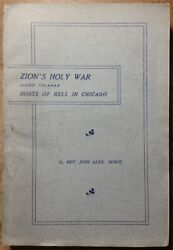 1900 Zion's Holy War Against The Hosts Of Hell In Chicago Rev John Alex Dowie Il
