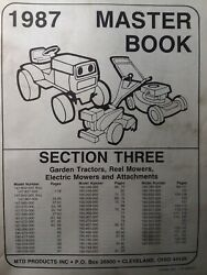 Mtd 1987 Lawn Garden Tractor, Implements And Electric Mower Master Parts Manual