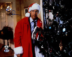 Chevy Chase Autographed 11x14 Christmas Vacation Photo Beckett Bas Coa