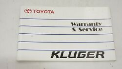 2002-2006 Toyota Kluger Mcu28 Replacement Service Log Book Oem Genuine Parts