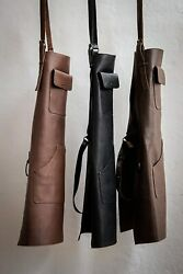 Heavy-duty Work Leather Apron For Bbq, Grill,kitchen,woodwork,barber,welding