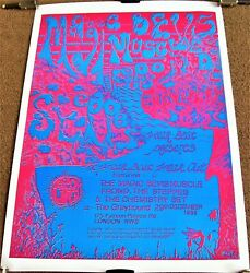 The Magic Bevis Muscle Frond Concert Poster 29th December 1989 The Greyhound Uk