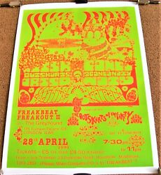 The Outskirts Of Infinity Concert Poster 28th April 1990 The Greyhound London Uk