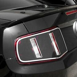 For Ford Mustang 2010-2012 Acc Black Tail Light Covers W Polished Trim Rings