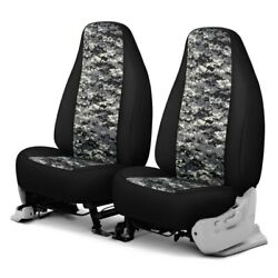 For Chevy El Camino 70-87 Camo™ 1st Row Digital Charcoal With Black Custom Seat