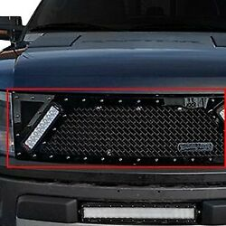 For Ford F-150 10-14 Main Grille 1-pc Rcx Explosive Dual Led Design Custom