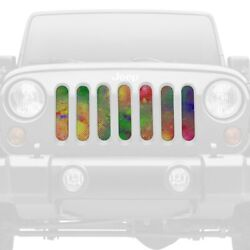 For Jeep Gladiator 20 1-pc Abstract Of Colors Style Perforated Main Grille