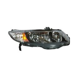 For Honda Civic 09-11 Pacific Best P46259 Passenger Side Replacement Headlight