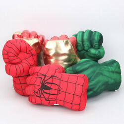 Iron Man Spider man Hulk Smash Punching Boxing Gloves Plush Toy Cosplay Gift