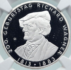 2013d Germany Composer Richard Wagner Old Proof Silver 10 Euro Coin Ngc I87427