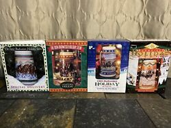 19993 19994 1995 1996 Budweiser Holiday Stein Clydesdale Horse New In Box..