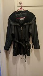 Andrew Marc Leather Jacket Women#x27;s New Possibly Vintage size Large $107.00