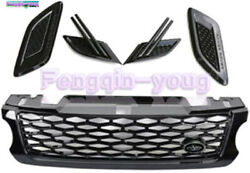 5pcs Fits For 2014-2017 Land Rover Range Rover Sport Front Grille Side Vent