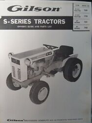 Gilson S-10 S-12 770 Garden Tractor 1968 Owner And Parts Manual Squire Mark Wards