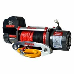 Detail K2 9500 Lbs Warrior Samurai Series Electric Winch W Synthetic Rope