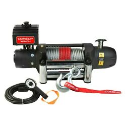 Comeup 12,500 Lbs Seal Gen2 12.5 Electric Winch W Roller Fairlead And Wire Rope