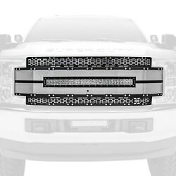 For Ford F-250 Super Duty 17-19 Main Grille 1-pc Torch-al Series Brushed