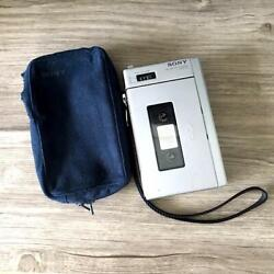 First Walkman Sony Tcm-100 Silver Pressman Case Completed Over 40 Years Ago