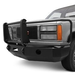 For Chevy C1500 88-98 Bumper Heavy Duty Series Full Width Textured Black Front