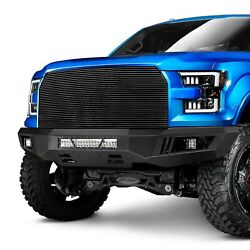 For Ford F-150 15-17 Black Horse Armour Full Width Black Front Hd Bumper
