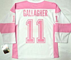 Nwt Brendan Gallagher Montreal Canadiens Girls Youth L/xl Pink License Jersey