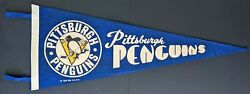 Vintage Nhl Hockey Pennant Sports Full Size Leafs Bruins Canadiens Penguins