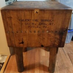 Antique Butcher Block From Philadelphia Shop - Over 100 Years Old