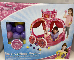 1 Disney Princess New Fall 2018 Explore Your World Carriage Inflatable Ball Pit