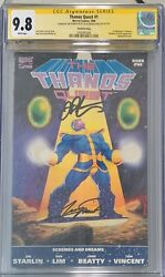 Thanos Quest 1 Cgc 9.8 Ss Jim Starlin And George Perez 2nd Print 1990