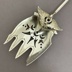 Isis By Gorham Aesthetic Sterling Silver Unusual Pierced Terrapin Fork 6 1/2