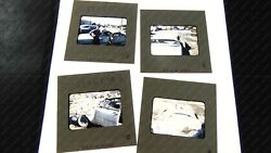 4 Slides Auto Wreck Original And03954 Chevy Bel Air 1957 Cool Cat Color Kodachrome