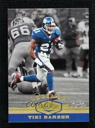 2019 Panini Plates And Patches Legends Gold 1/1 Tiki Barber 133