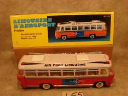 L55 Vintage 14 Friction Operated Tin Mf-910 Shanghai Airport Limousine Bus Box