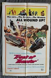 Track Of Thunder Movie Poster Stock Car Racing Tommy Kirk Faith Domergue 1967