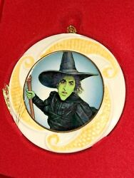 Lenox Porcelain Ornament Wicked Witch Of West 75th Anniversary Wizard Of Oz