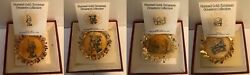 The Hummel Gold Christmas Ornament Collection Set Of 35 Danbury Mint 1987-1988