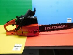 Vintage Poulan 3700 Craftsman 3.7 Chainsaw 18 Bar And Chain Used Once
