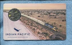 2020 50 Cent Coloured Coin 50th Anniversary Indian Pacific Sydney Adelaide Perth