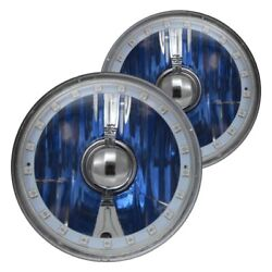 For Ford Mustang 69 Headlight 5 3/4 Round Chrome Elite Diamond Cut Color