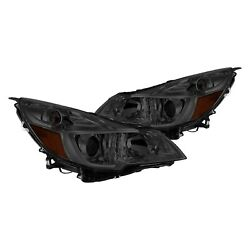 For Subaru Outback 10-14 Lumen Chrome/smoke Factory Style Projector Headlights