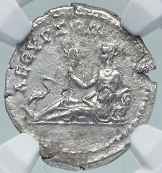 Hadrian Travels To Egypt Authentic Ancient 134ad Silver Roman Coin Ngc I87180
