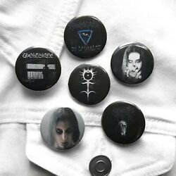 Ghostmane Buttons Soundcloud Rapper Goth Gothic Alternative Emo Hot Topic Eboy
