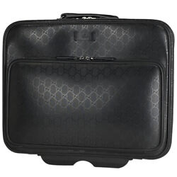 Pre-owned 246459 520981 Gg Imrime Carry Bag Pvc Leather Free Shipping