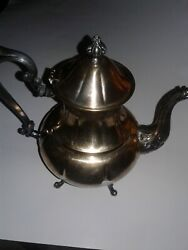 Sheridan Silver On Copper Vintage Copper Tea Pot With Four Claws