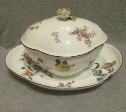 Meissen Porcelain Woodcut Flower Tureen Early 1700and039s