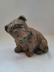 BULLDOG STATUE FIGURINE RESIN DOORSTOP HEAVY LIFELIKE 7quot; TALL HOLIDAY GIFT